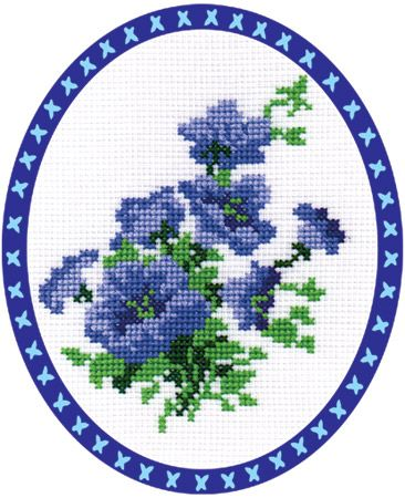 """Набор для вышивания """"PANNA"""" Ц-0066 """"Синие колокольчики"""" -   Леонардо хобби-гипермаркет - сделай своими руками"""