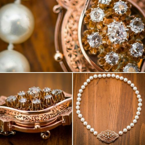 Antique-14k-Rose-Gold-1-59ctw-Old-Mine-Cut-Cushion-Diamonds-9mm-Pearl-Necklace