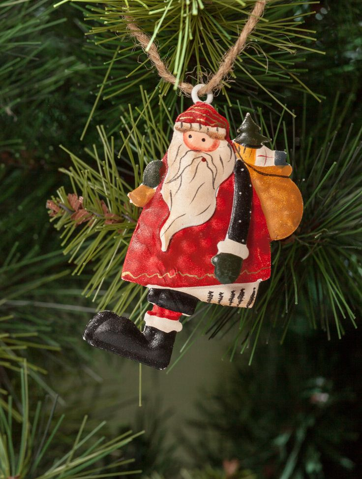 He's making the list Checking it Twice. Adorable Santa Claus Elegant Decorations