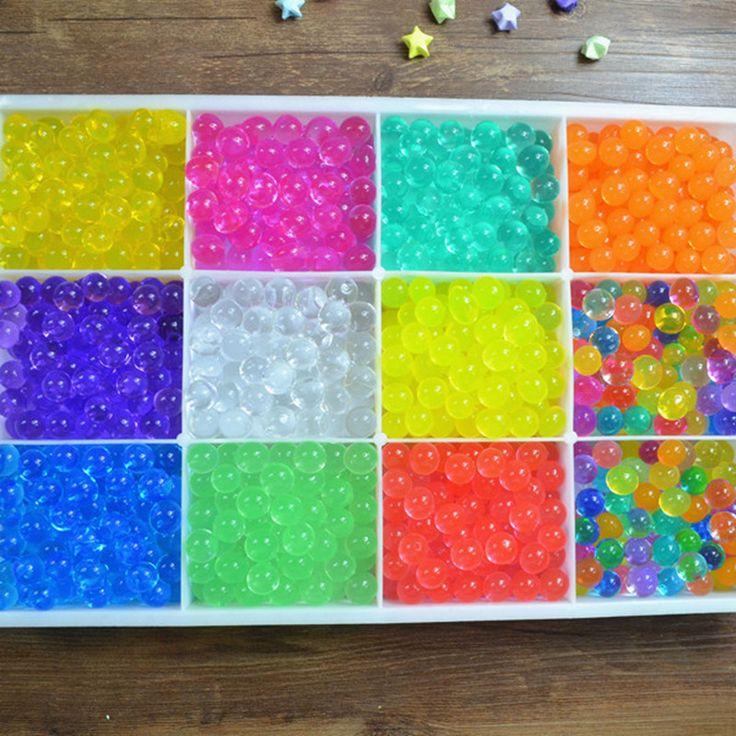5 bolsas (500 unids) Suelo De Cristal Hidrogel Perlas de Agua De Gel De Polímero Flor/de La Boda/Decoración Maison Creciente Bolas de agua de Gran Decoración Del Hogar