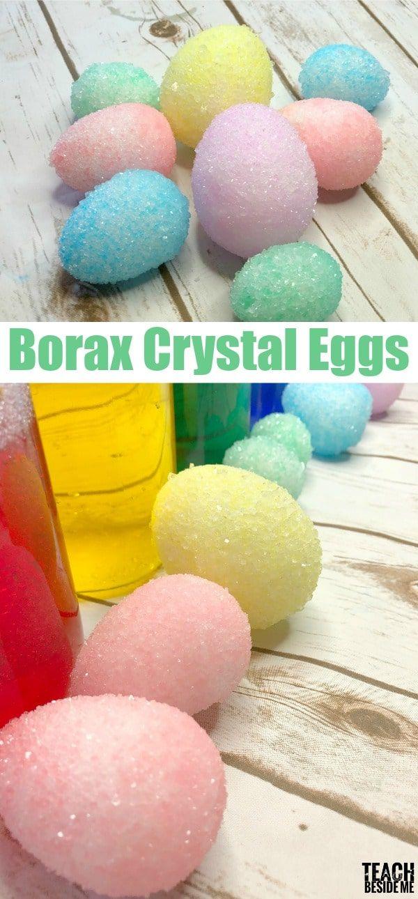 Borax crystal eggs