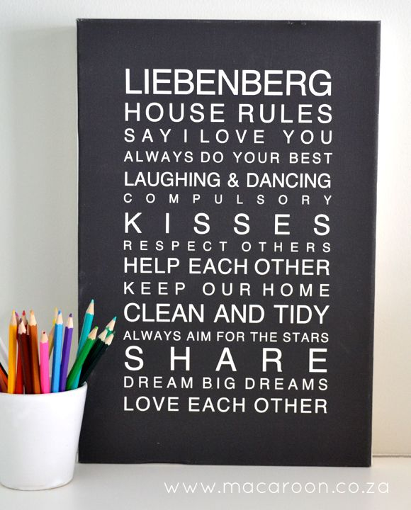 Personalised House Rules