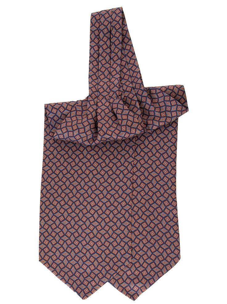 Bolsena-Paisley & Geometric Silk Ascot Tie