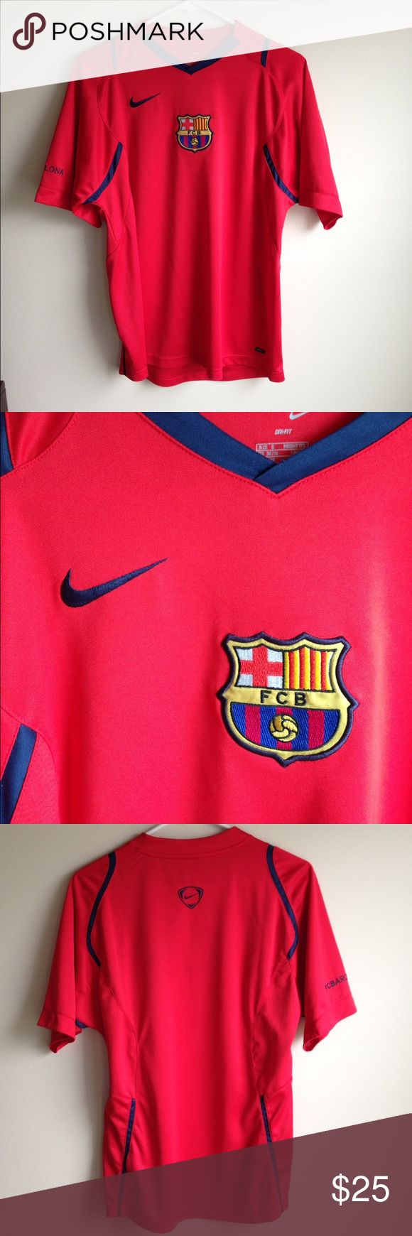 FC Barcelona jersey FC Barcelona training top in like new condition. Worn once. Bought in Barcelona! Nike Shirts Tees - Short Sleeve