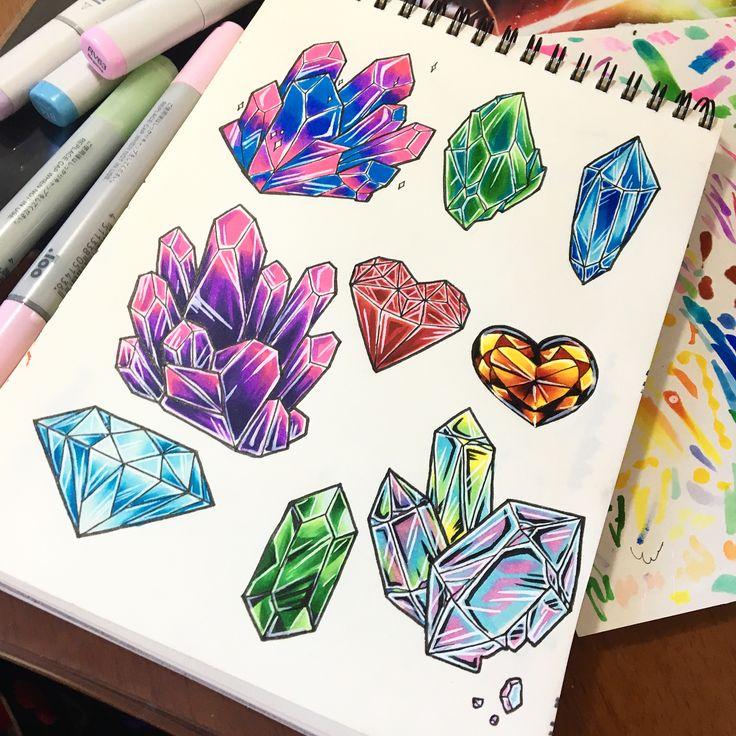 Картинки для срисовки в скетчбук легкие красивые необычные странные цветные