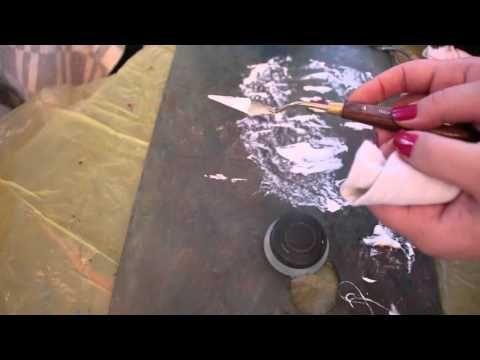 Мастихин.Как рисовать с помощью мастихина деревья.Уроки живописи и рисования,как рисовать акрилом - YouTube