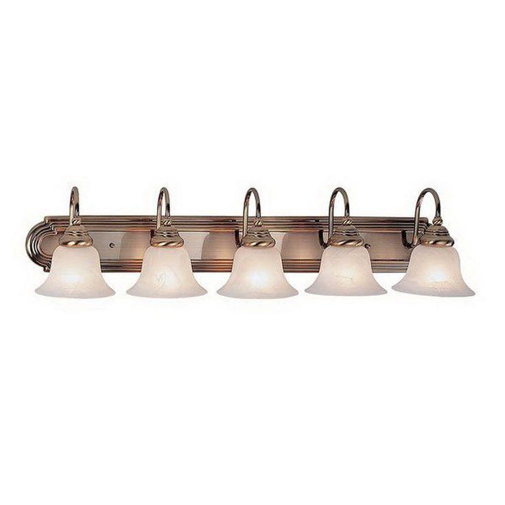 Livex Lighting 5 Light Belmont Antique Brass Bathroom Vanity Light