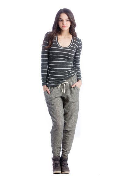 Lilac Clothing Hailey Top Grey Stripe