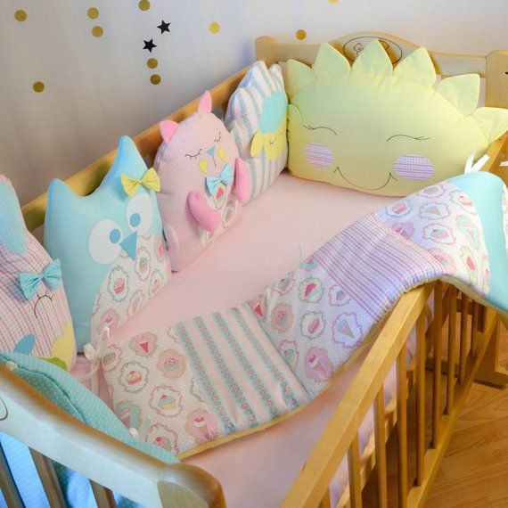 Crib Bumpers Baby Bed Bumper Crib Bedding Cot Bumper Set Montessori Bed Baby Bedding Sets Crib Bumper Set Crib Bumper