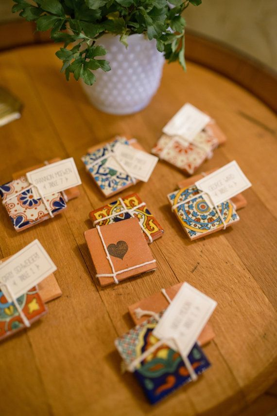 Image result for mexican tile wedding favors
