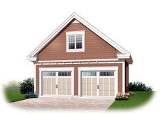 Craftsman   Garage Plan 64842, 28' x 28' with loft above (approx 416 sf living space)