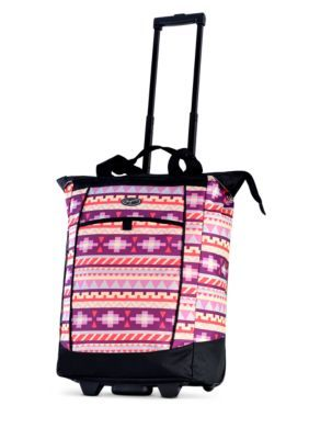 Olympia Luggage Fashionista Rolling Shopper Tote - Tribal - One Size