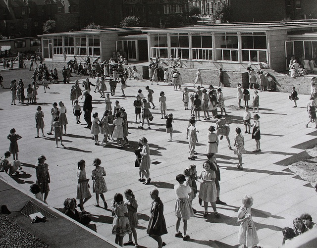 School Playground early 1950s by Astral Pax, via Flickr