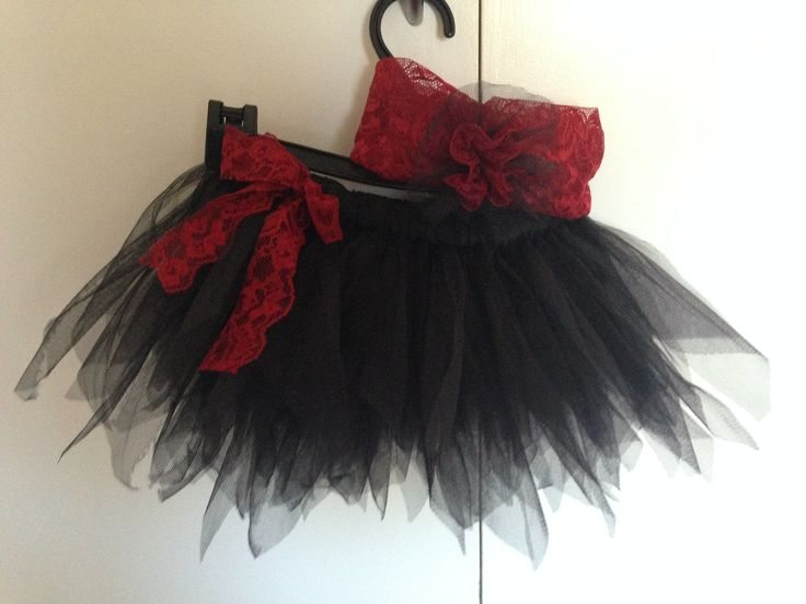 Black and Red Tutu with Headband