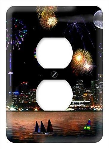WaPlate - Canada Day Fireworks - Switch Plate Outlet Cover