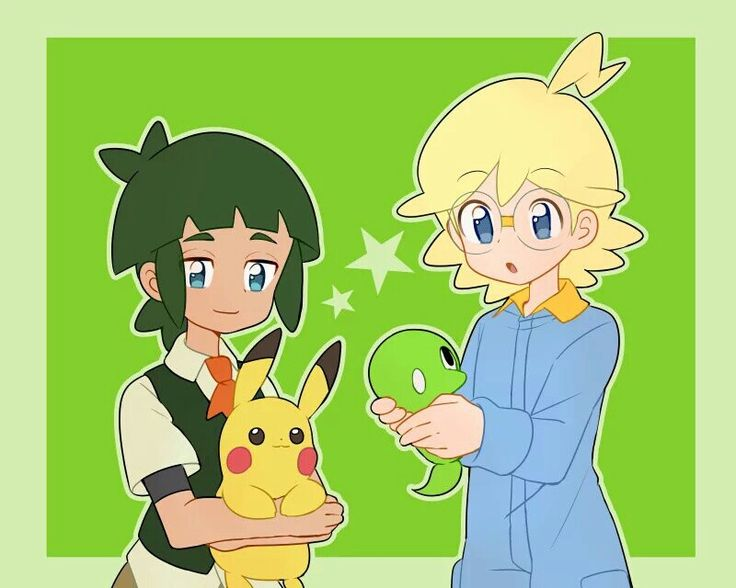 Clemont And Sawyer ♡ I Give Good Credit To Whoever Made This Pikachu Pinterest Pok 233 Mon