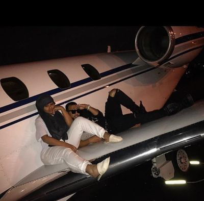 Welcome to Oghenemaga Otewu's Blog: French Montana and Blac Chyna chilling on the wing...