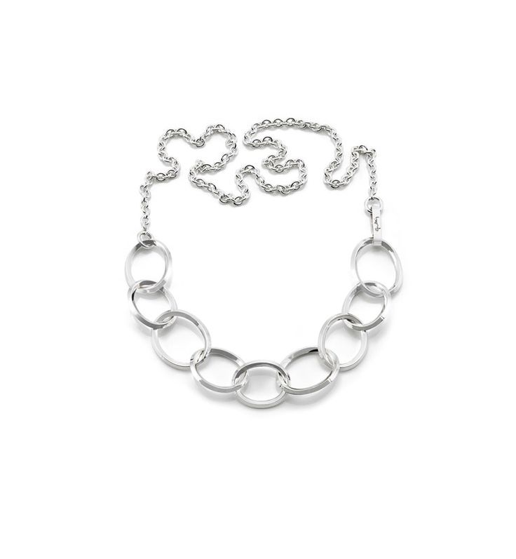Chain on Chain - Silver - Necklaces - Efva Attling