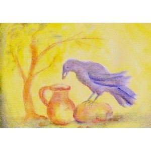 Age 08 ~ Aesop's Fables ~ The Crow and The Pitcher
