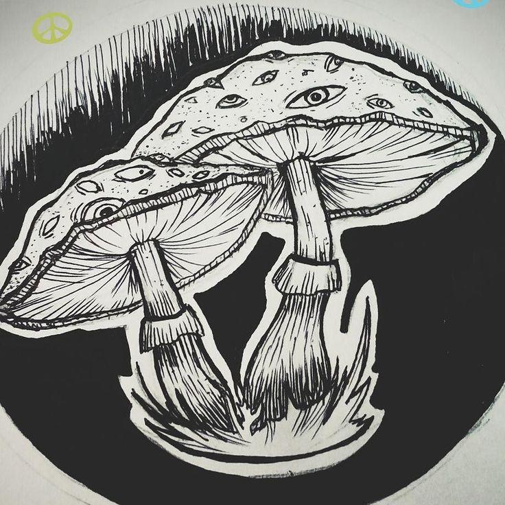 Свободный эскиз))   #newart #black #mushrooms #tattoo #krasnodartattoo #lineworktattoo #dotworktattoo by silnaaaaa_tattoo