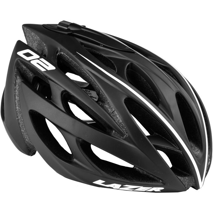 "The Lazer ""O2 DLX"" helmet is a light and airy road helmet, the DLX version is comes with detachable aero shell, cap, and cappuccino lock. £100, available to order from Black Bikes at the Enterprise Shopping Centre, http://www.enterprise-centre.org/shops/bike-shops"