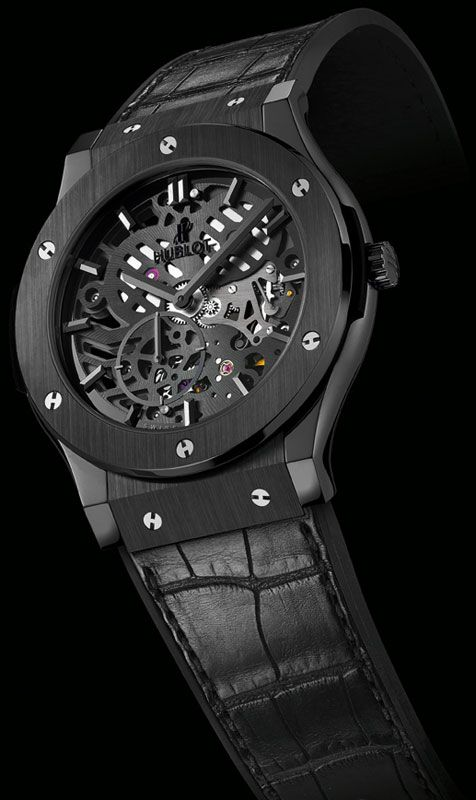 Father's Day Gift? Hublot Black Ceramic Classic Fusion Extra Thin