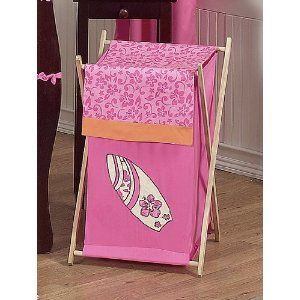 hawaiian girl crib set | Girl's Tropical Hawaiian Surf Baby/Kids Clothes Laundry Hamper by ...