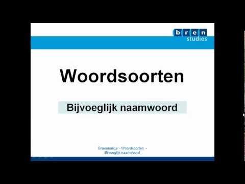 ▶ BRENles Nederlands Bijvoeglijk naamwoord.mp4 - YouTube