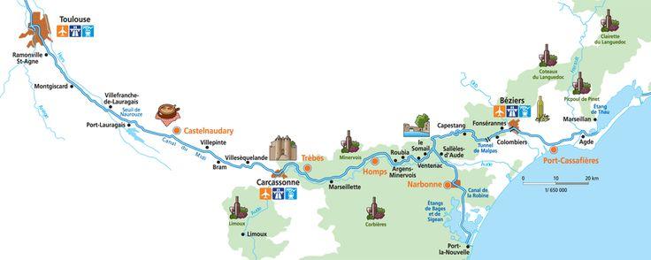Top 10 secret gems of the Canal du MidiMediterranean Agde Le Cap d' Agde beach resort Narbonne's Horreum Cathédrale St-Nazaire in Béziers Ventenac's wine cave Paraza's vineyards Oppidum d'Enserune ruins Carcassonne's knights Castelnaudary's delicious cassoulet Toulouse's Cité de L'Espace (space museum)