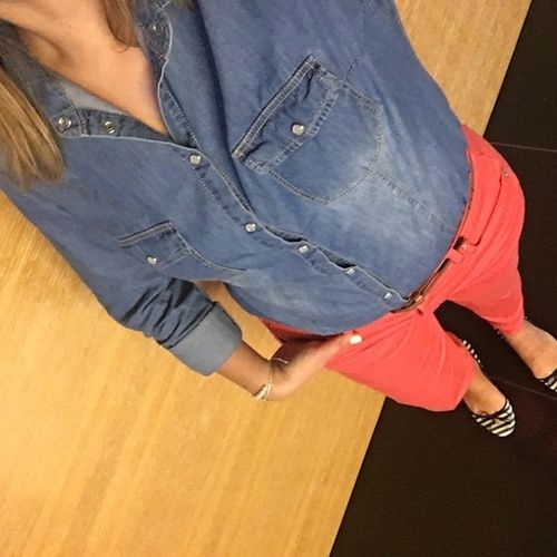 Chambray and Coral make the perfect color combo!  #ssCollective #ShopStyleCollective #MyShopStyle #ootd #mylook #springstyle #summerstyle #lookoftheday #currentlywearing #wearitloveit #getthelook #todaysdetails