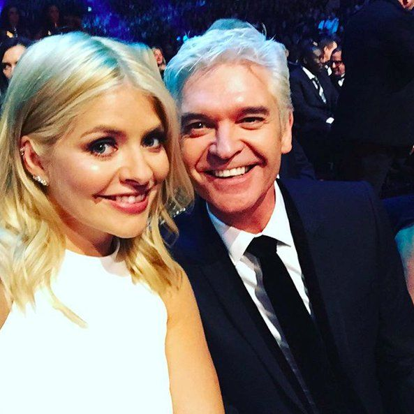 """Pin for Later: The National TV Awards Instagram Moments You Don't Want to Miss! Holly Willoughby and Phillip Schofield """"NTA's here we go!!!!! Xxx"""""""