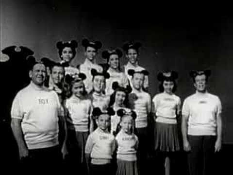 "The original ""Mickey Mouse Club"" aired from 1955-59. As a kid I admired  Annette Funicello's wholesomeness. Sing the alma matre with me- ""Come along and sing our song, and join our family....M-I-C (See you real soon)...K-E-Y (Why? Because we like you!)...M-O-U-S-E!"""