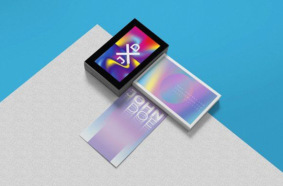 Holographic Business Card Templates Business Card Template Design Business Card Design Google Business Card