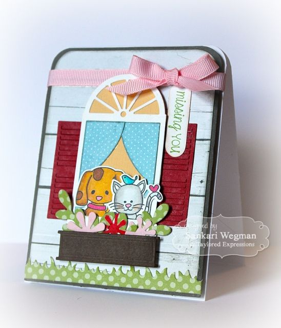 Missing You Card by Sankari Wegman #Critters, #Cardmaking, #MissingYou