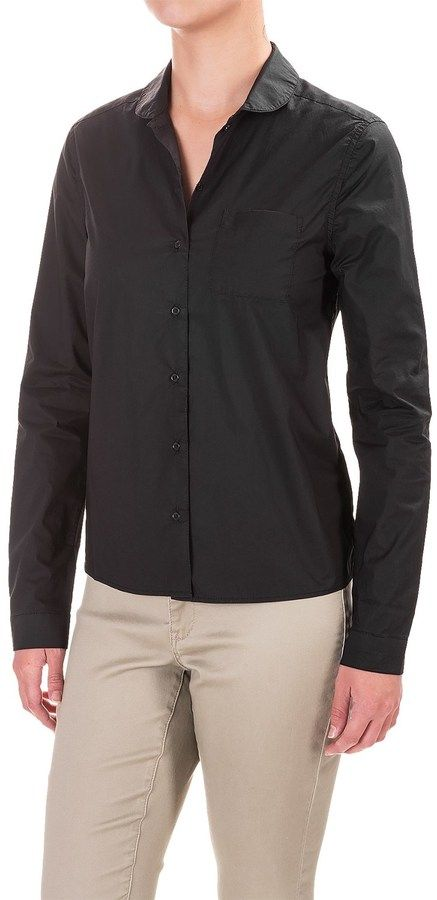 Mavi Jeans Basic Round Collar Shirt - Long Sleeve (For Women)