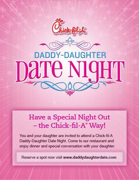 Chick Fil A Daddy Daughter Date Night 2018