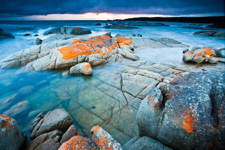 Seasonal moods at the Bay of Fires, on Tasmania's East Coast. #bayoffires #tasmania #discovertasmania Image Credit: Scott Sporleder