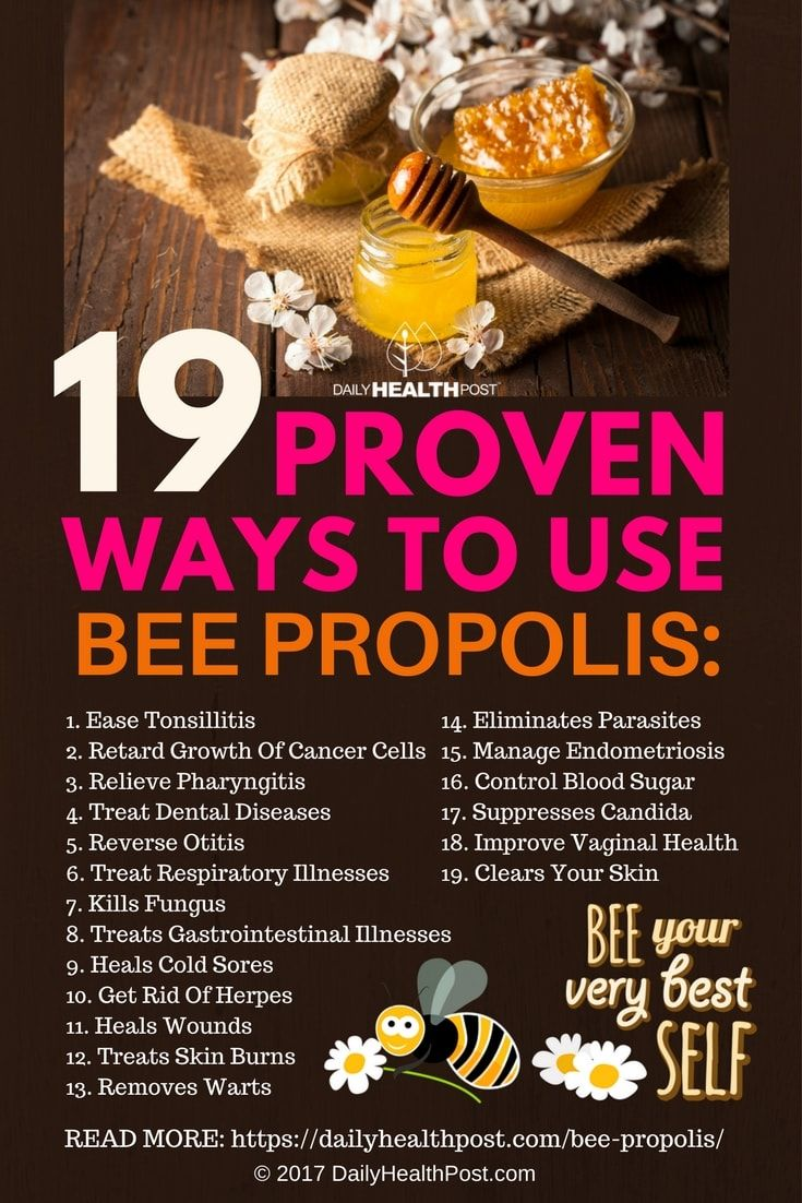 From Pharyngitis to Cold Sores: 19 Proven Ways To Use Bee Propolis via @dailyhealthpost