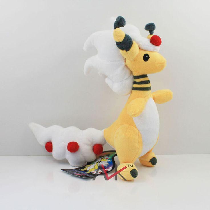 Anime Pokemon Center Mega Ampharos Plush Toy Soft Plush 28cm Cartoon Stuffed Plush Animals Kids Gift Free Shipping