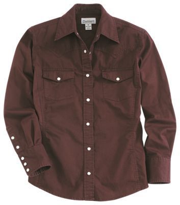 Carhartt Work Wash Snap-Front Shirt for Ladies - Port - XS