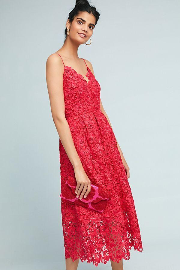 07a6f8de0ad5 Sherbert Lace Midi Dress | Anthropologie Wish List July 2018 | Lace midi  dress, Dresses, Lace