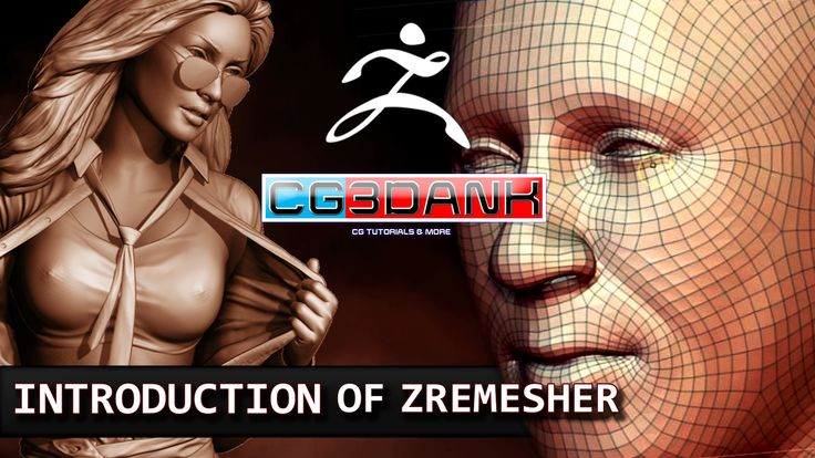ZBRUSH TUTORIAL- USE OF ZREMESHER FOR TOPOLOGY(DETAIL)