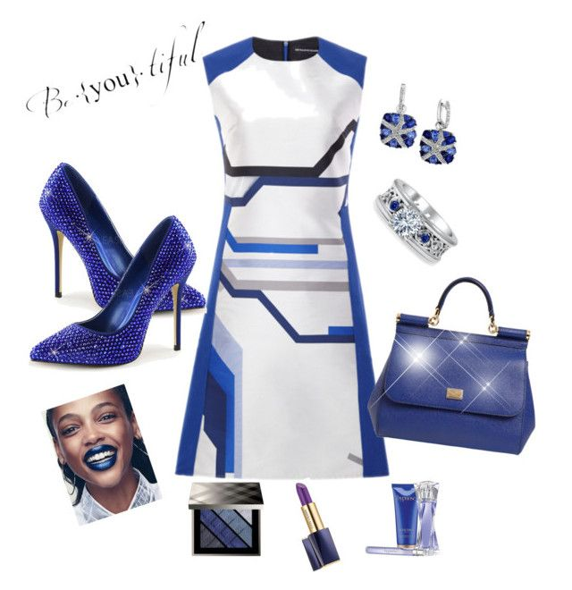 Beautiful in blue by Diva of Cake featuring polyvore fashion style Ostwald Helgason Dolce&Gabbana Effy Jewelry Burberry Estée Lauder Lancôme clothing