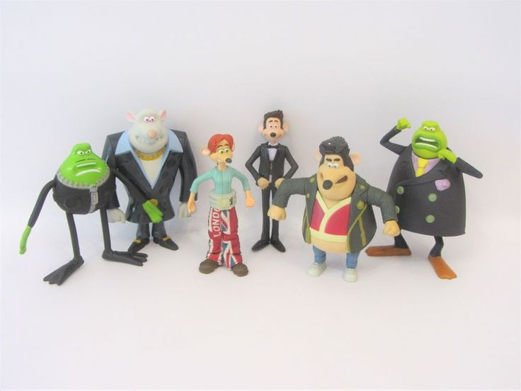 McDonalds Happy Meal Flushed Away Toys Complete Set 6 Figures - Roddy Rita Sid  | eBay