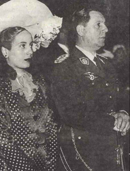 Eva and Juan Domingo Peron