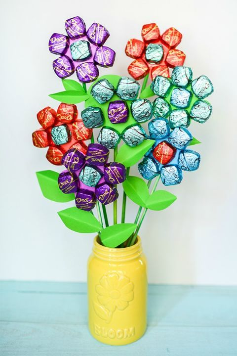 25 Mason Jar Presents for Mother's Day- Mother's Day Gifts-FOR THE MOM WHO LOVES CHOCOLATE Don't get us wrong, flowers are awesome. But chocolate flowers are better—we don't have to tell you why. Browse our selection of homemade Mother's Day gifts at redbookmag.com.