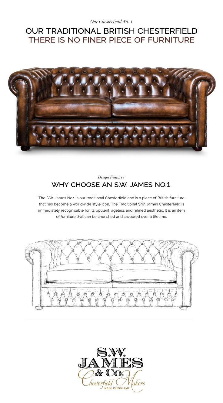 S W James No 1 Chesterfield Sofa In 2020 Leather Chesterfield