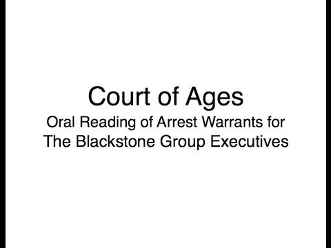 ARREST WARRANT: The Blackstone Group Executives