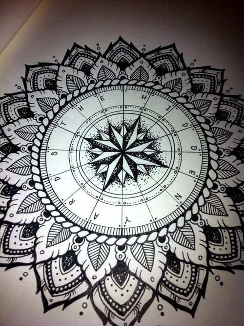 Compass mandala for 'The Hidden Yards'