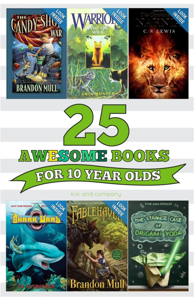 25 Awesome Books for 10 year olds
